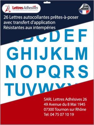 lettres autocollantes couleur bleu clair - image 0