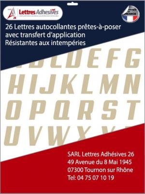 lettres adhésives couleur beige