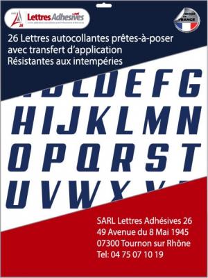 lettres adhésives couleur bleu foncé