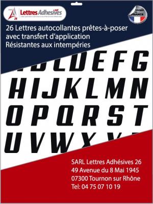 lettres adhésives couleur noir - image 0