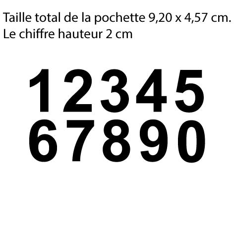 Achat 10 chiffres hauteur 2 cm le chiffre