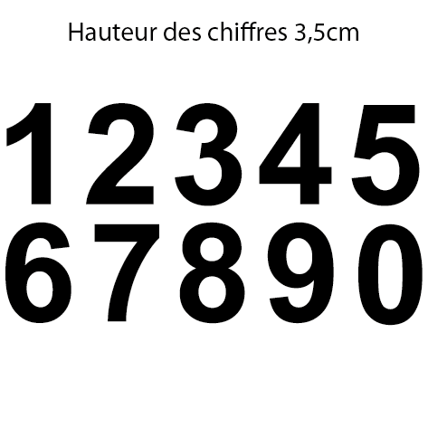 Achat 10 chiffres hauteur 3.5 cm le chiffre