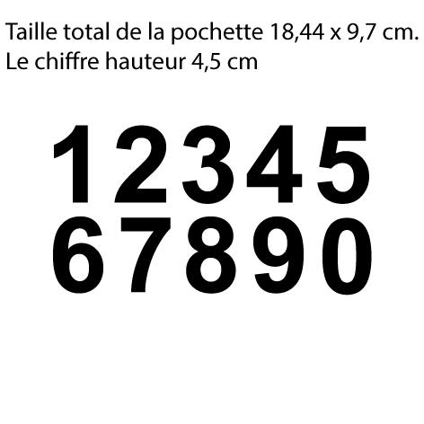 Achat 10 chiffres hauteur 4.5 cm le chiffre