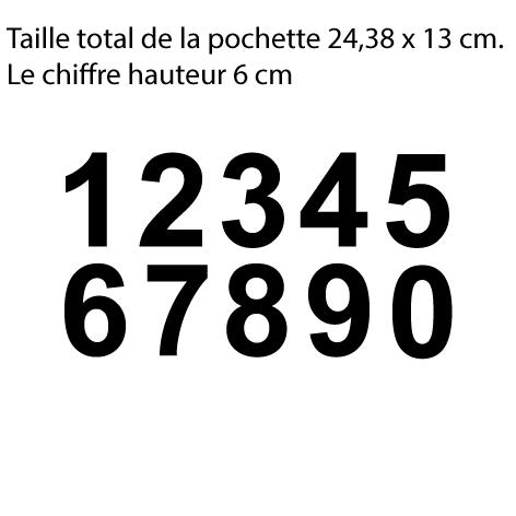 Achat 10 chiffres hauteur 6 cm le chiffre