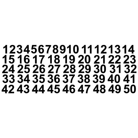 Achat Arnaud G pochette de chiffres de 10cm de hauteur le chiffre