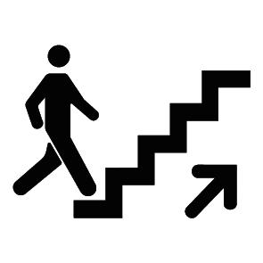 autocollant monter d escalier ultra r sistant petits prix lettres adh sives 26. Black Bedroom Furniture Sets. Home Design Ideas