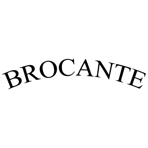 Brocante écriture en arc cercle