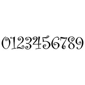 Chiffres adhésifs 5, 7, 9, 11 cm : CA04