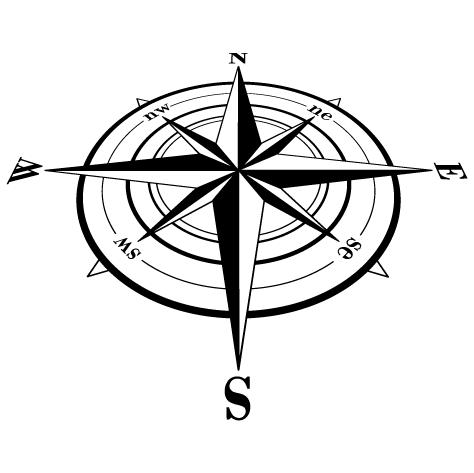 Compas rose des vents