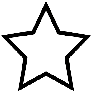 Sticker étoile vide