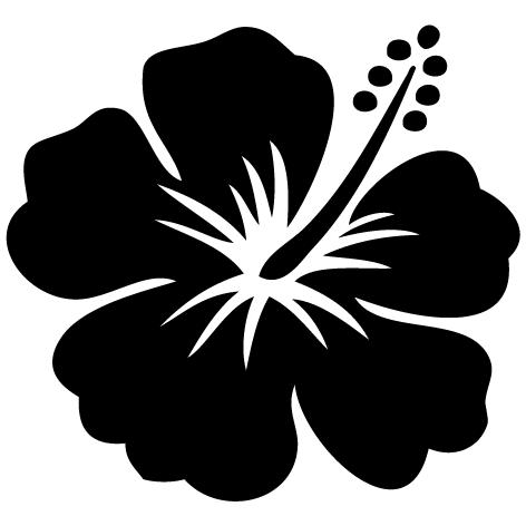 Sticker fleur hawa enne sfl04 ultra r sistant petits - Fleure hawaienne ...