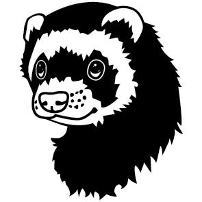 Sticker Furet