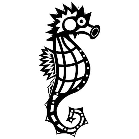 Achat  Sticker Hippocampe