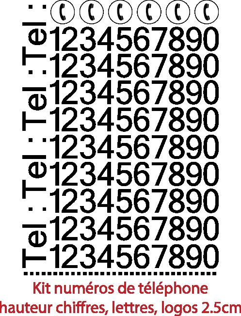num ros autocollants 133 pi ces hauteur chiffres lettres logos tel ultra r sistant. Black Bedroom Furniture Sets. Home Design Ideas
