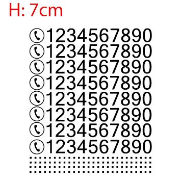 Kit numéros avec logo téléphone H 7cm