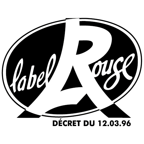 Sticker label rouge