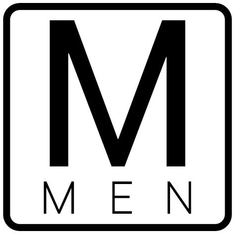 Autocollant Men avec contour
