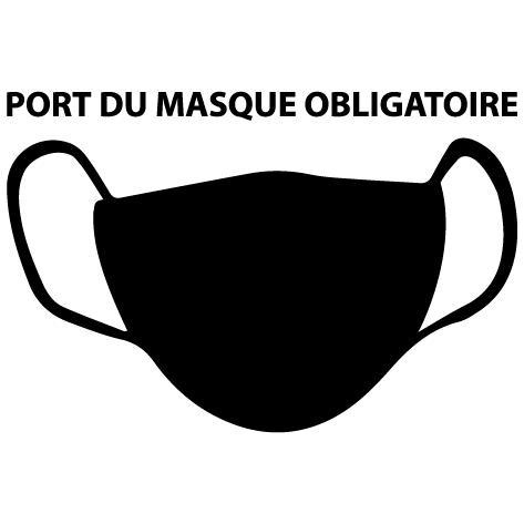 Autocollant masque obligatoire : 01