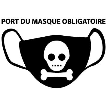 Autocollant masque obligatoire : 02