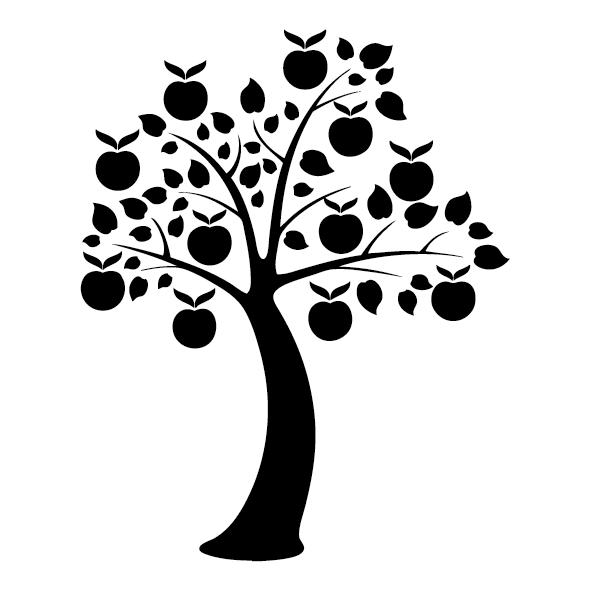 Sticker ornement pommier