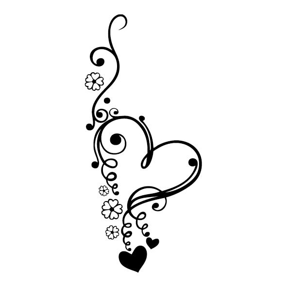 Sticker Ornement cœur : ORN005