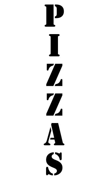 Achat Pizzas police stencil