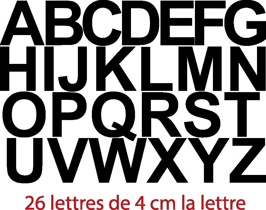 pochettes lettres de l 39 alphabet lettres adh sives 26. Black Bedroom Furniture Sets. Home Design Ideas