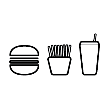 Picto fast food