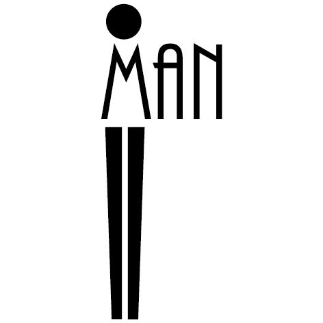 Sticker Pictogramme Man