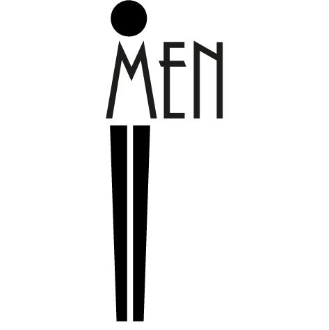 Sticker Pictogramme Men