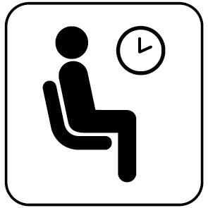Pictogramme salle d'attente
