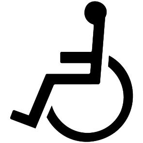 Pictogramme toilettes handicapés : 1