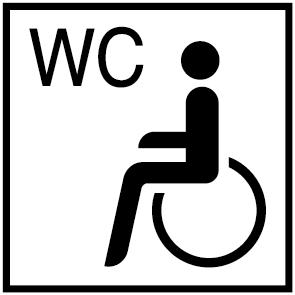 pictogramme toilettes handicap s ultra r sistant petits prix lettres adh sives 26. Black Bedroom Furniture Sets. Home Design Ideas