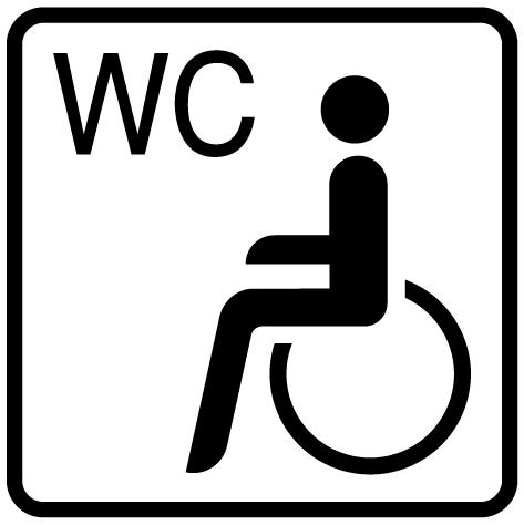 Pictogramme toilettes handicapés