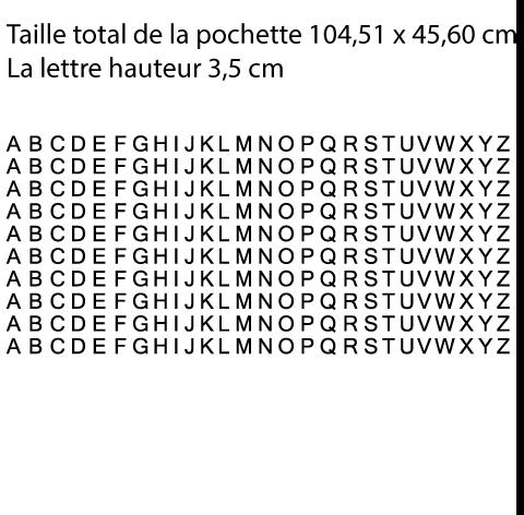 Pochette 10 x l'alphabet en 3,5 cm de hauteur