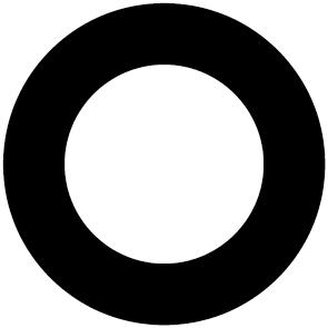 Sticker rond 1/4 plein
