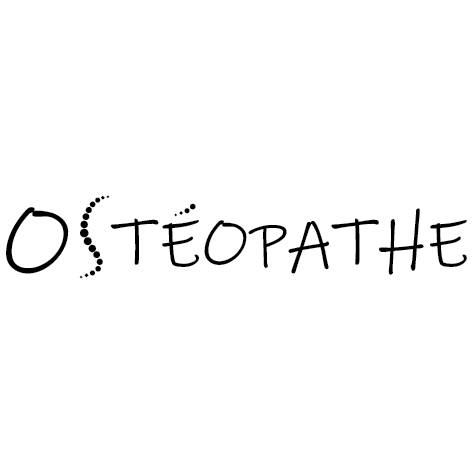 Sticker écriture ostéopathe