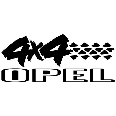 Sticker 4X4 Opel