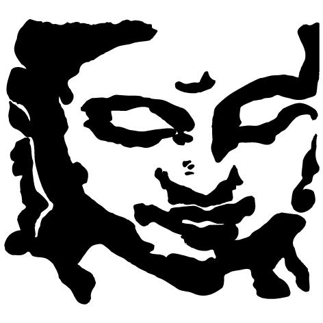 Sticker Mural Bouddha