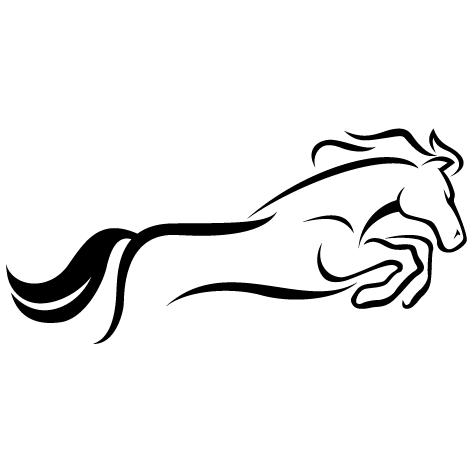 Silhouette cheval de sault