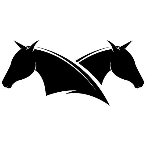 Silhouette cheval dos à dos