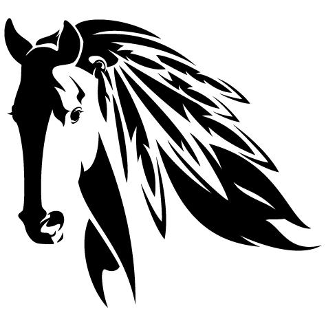 Silhouette tête de cheval