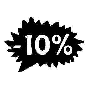 Étiquette soldes promotion -10%