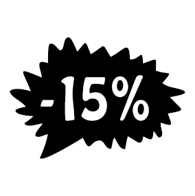 Étiquette soldes promotion -15%