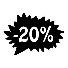 Étiquette soldes promotion -20%