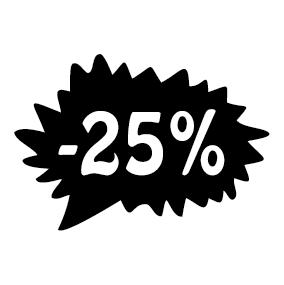 Étiquette soldes promotion -25%