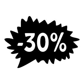 Étiquette soldes promotion -30%