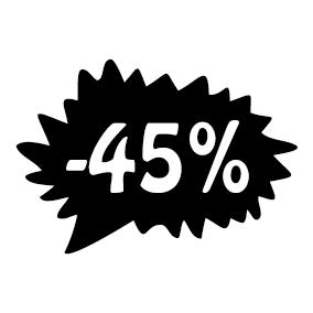 Étiquette soldes promotion -45%