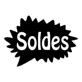 Étiquette sticker soldes promotion