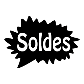 Soldes bulle phylactères - Soldes